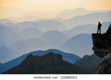 imposing and exuberant mountains cliffs, scenery and nature