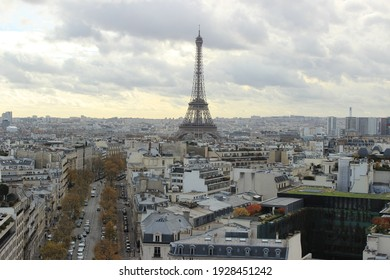 Imposing panorama of Paris where the tower stands out in the background of the city