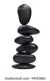 Impossible balancing zen stones