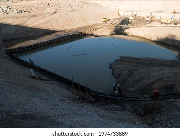 impoundment of water or water retention in construction and building industry