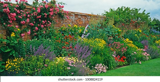 Perennial border images stock photos vectors shutterstock an impress and colourful flower border of a coutry house garden solihull warwickshire mightylinksfo