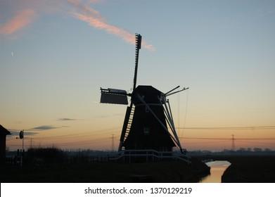 impressing dutch windmill