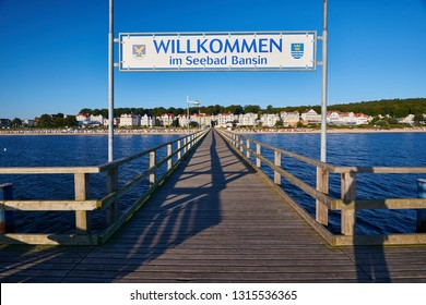 impression of baltic town Seebad Bansin on Usedom