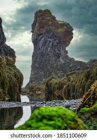 Impression of the  coastal line of the Snæfellsnes / Snaefellsnes peninsula in the western part of Iceland