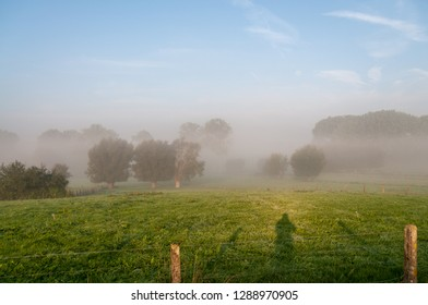 An impression of the East Flanders country side, very early in the morning.