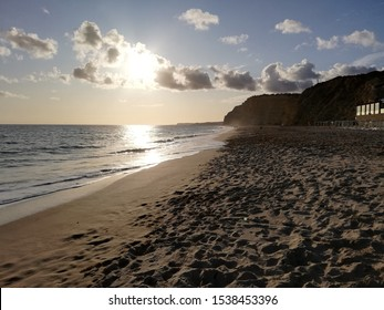 Impression of an evening on the beach in Lagos, Portugal