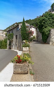 Impression of the village Vogue  which is recognized as historical heritage and is considered one of ten charming villages of France.