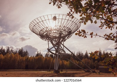 Impression of the Westerbork Synthesis Radio Telescope, an aperture synthesis interferometer, in the Dutch province of Drenthe, on a sunny fall afternoon.