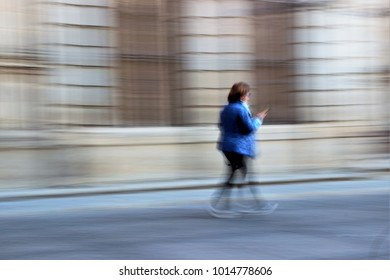 Impressionist photography of people taken at low speed