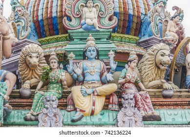 Impressions from the city of Singapore, Sri Mariamman Temple, asia