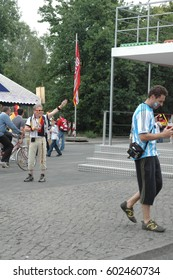 Impressions from the Fan mile at the 2006 Football World Cup (World Cup 2006) in Berlin on June 30, 2006 (before the quarter-final between Argentina and Germany), Germany