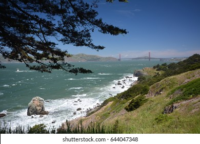 Impressions from the Lands End in Golden Gate Recreation Area in San Francisco from April 27, 2017, California USA