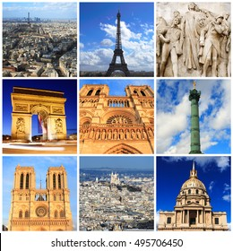 Impressions of Paris, Collage of Travel Images