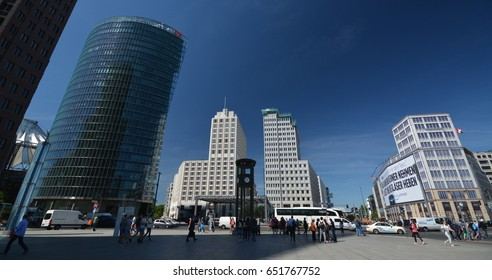 Impressions from the Potsdam square (Potsdamer Platz) in Berlin from 1 June 2017, Germany
