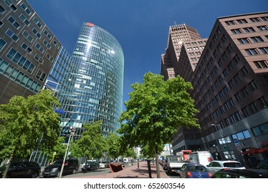Impressions from Potsdamer Platz in Berlin from June 1, 2017, Germany