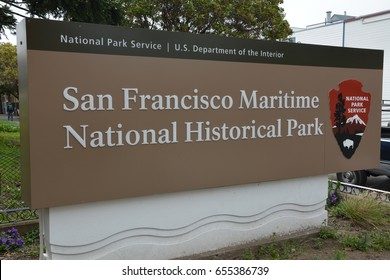 Impressions from the San Francisco Maritime National Historical Park of April 26, 2017, California USA