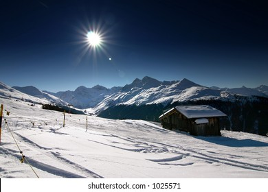 Impressions of snow and mountains, skiing/snowboarding related imagery. Taken in Davos, Switzerland.