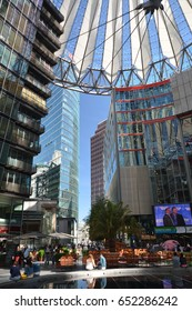 Impressions from the Sony Center at Potsdamer Platz in Berlin from 1 June 2017, Germany