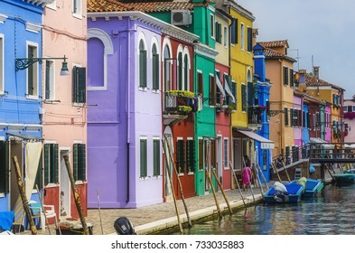 Impressions from venice, here the island burano, italy, europe