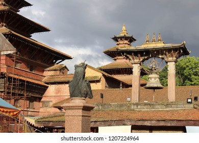 The impressive architecture of Patan Durbar Square. Taken in Nepal, August 2018.