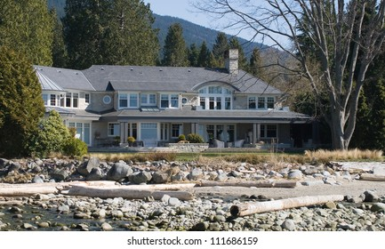 An impressive beach front property, West Vancouver, BC, Canada.