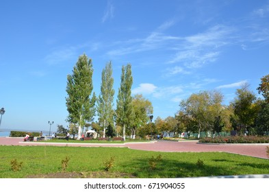 Impressive blue sky and trees in Russia