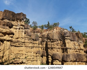 Impressive cliff of Pha Chor Grand Canyon in Mae Wang National Park, Chiang Mai, Thailand