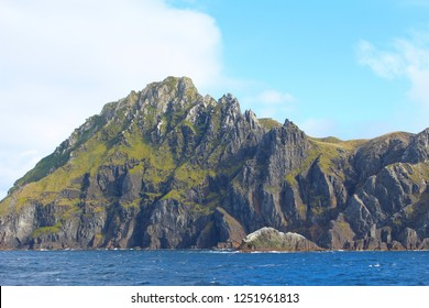 The impressive cliffs of Cape Horn the southernmost headland of the Tierra del Fuego archipelago in Chile