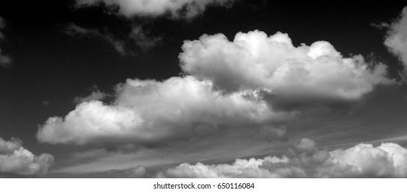 impressive clouds against dramatic dark sky