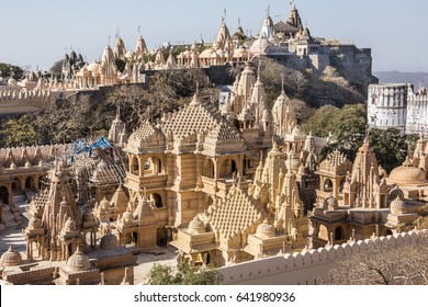 The impressive complex of  incredible Jain temples at Mt Shatrunjaya, Palitana,Gujarat, India.