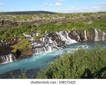Impressive Hraunfossar Waterfalls, Iceland