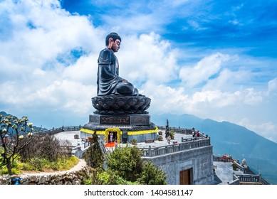 Impressive location top of Fansipan Hill Sapa Vietnam