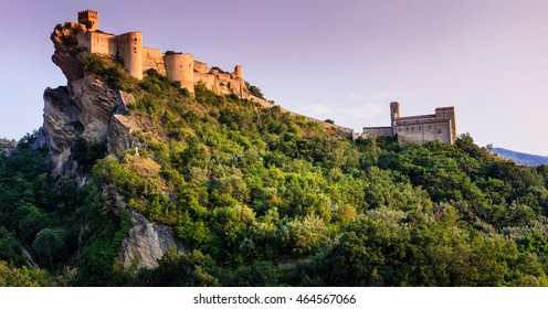 impressive Roccascalegna castle. Italy, Abruzzo (Chieti province)