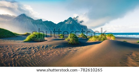 Impressive summer panorama of