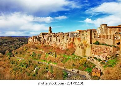 impressive town or rocks- Pitigliano, Tuscany ,Italy