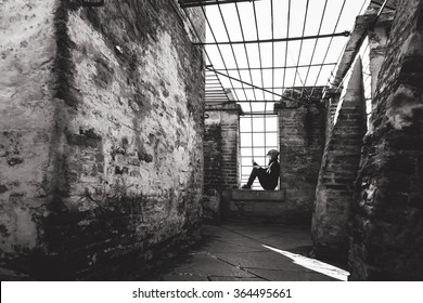 imprisoned woman hope looking from cages