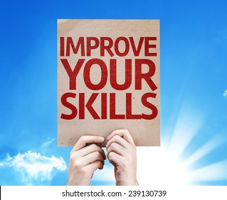 Improve Your Skills card with beautiful day