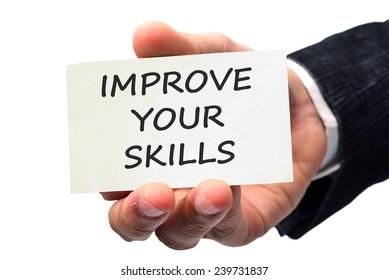 Improve your skills concept