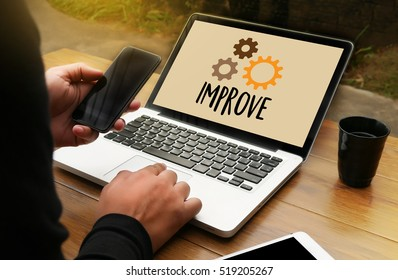 Businessman Success Increase Growth Quality Improve Stock Photo