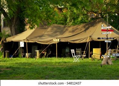 improvised military camp