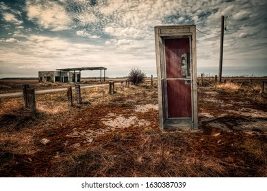 """""""...In the southwest part of town, near the abandoned gas station at the end of Miner Street, there was a phone booth."""" (Roadside picnic)"""
