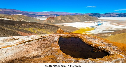 Inactive geyser in Catamarca province, Argentina