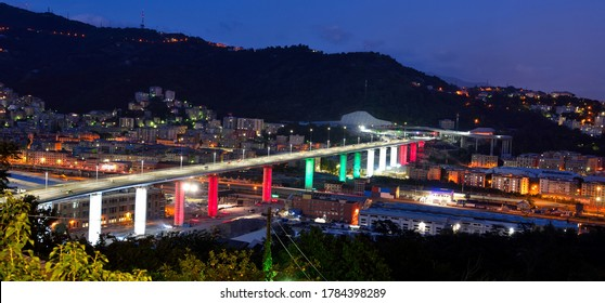 inauguration of the new highway bridge in genoa on 3 august 2020 will be called san giorgio