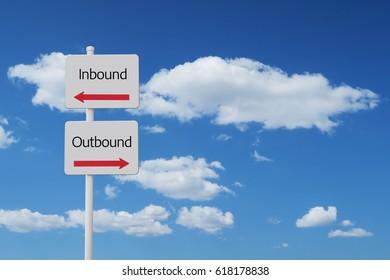 inbound outbound sign
