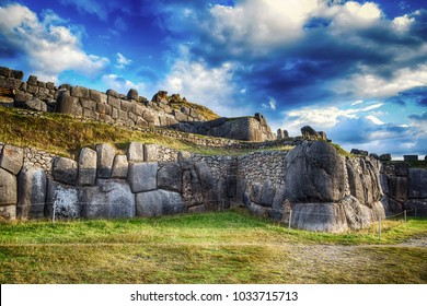 The Inca citadel Sacsayhuaman at the outskirts of Cusco (Peru)