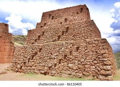 Inca Pyramid at Sacsayhuaman near Cusco