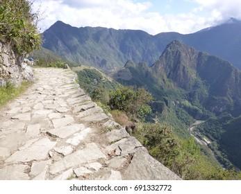 Inca road of Machu Picchu