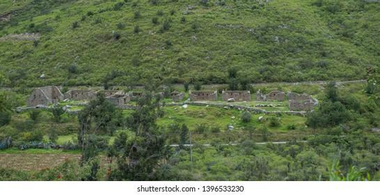 Inca Ruin on Inca Trail, Machu Pucchu, Cusco - Peru
