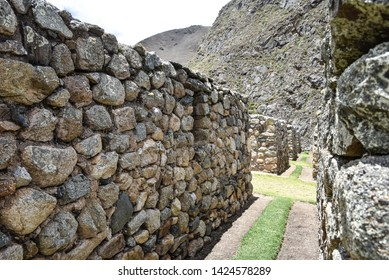 The Inca ruins of Patallacta and Llactapata on Day 1 of the Inca Trail to Machu Picchu