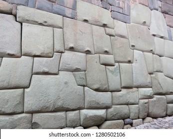 Inca sculpted wall in Cusco
